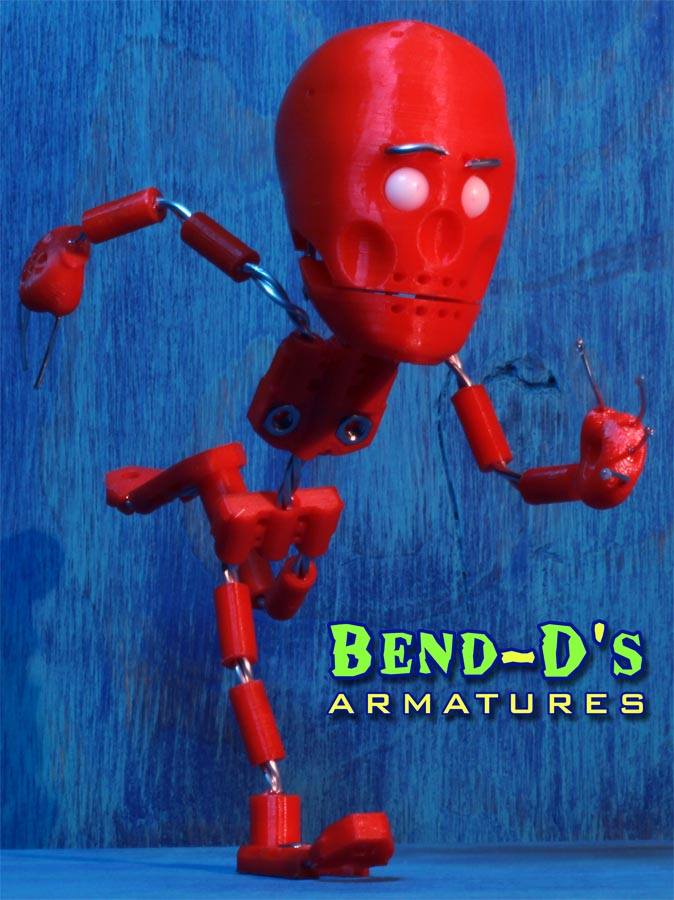 Bend-D's [Simple] Armature Kit 7.5 inches tall (Green Color)